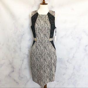 Calvin Klein | Geometric Color Block Sheath Dress